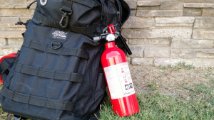 Fly in a dry area? Probably worth adding a small fire extinguisher to your gear bag.
