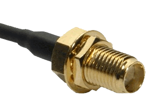 The female SMA connector is pretty much the ubiquitous antenna connector for video transmitters.