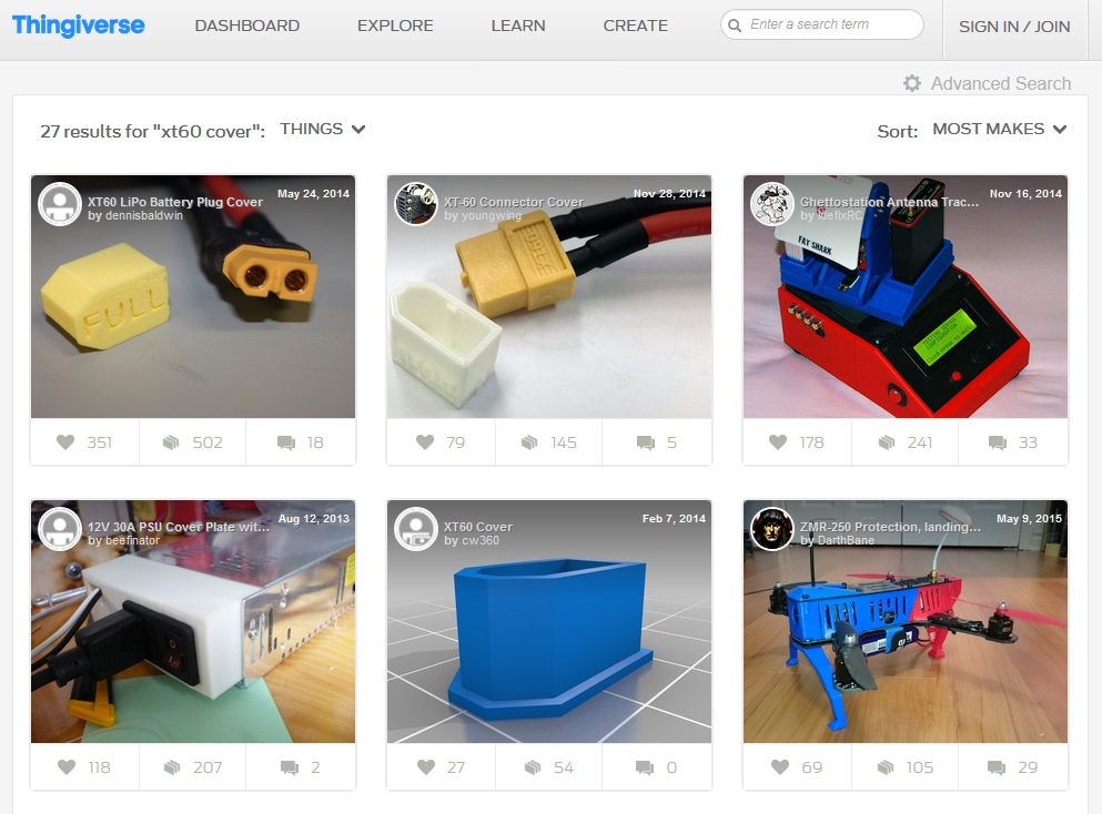 thingiverse search