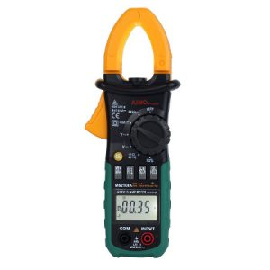 The MS2108A Clamp meter, which can be used to measure current without breaking any connections.
