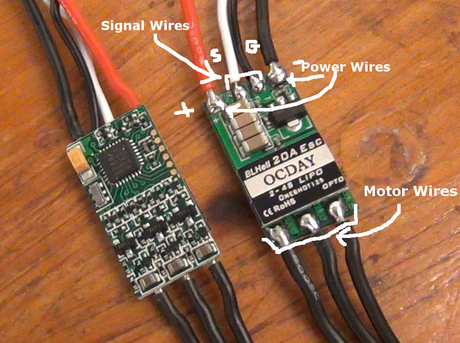 Brushless Motor Connect To Esc