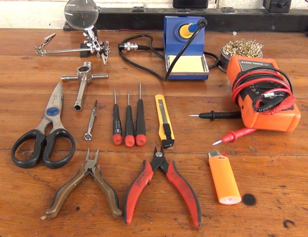 Here are the tools needed to build a racing drone.