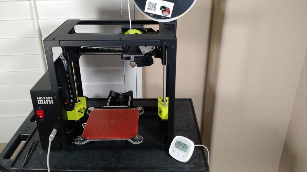 Our amazing printer setup! Lulzbot Mini!