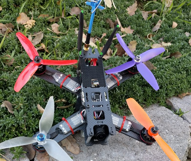 Flying a quadcopter with 4 different props