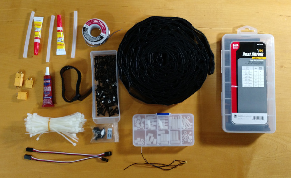 Spare parts: extra quadcopter components for building and repair