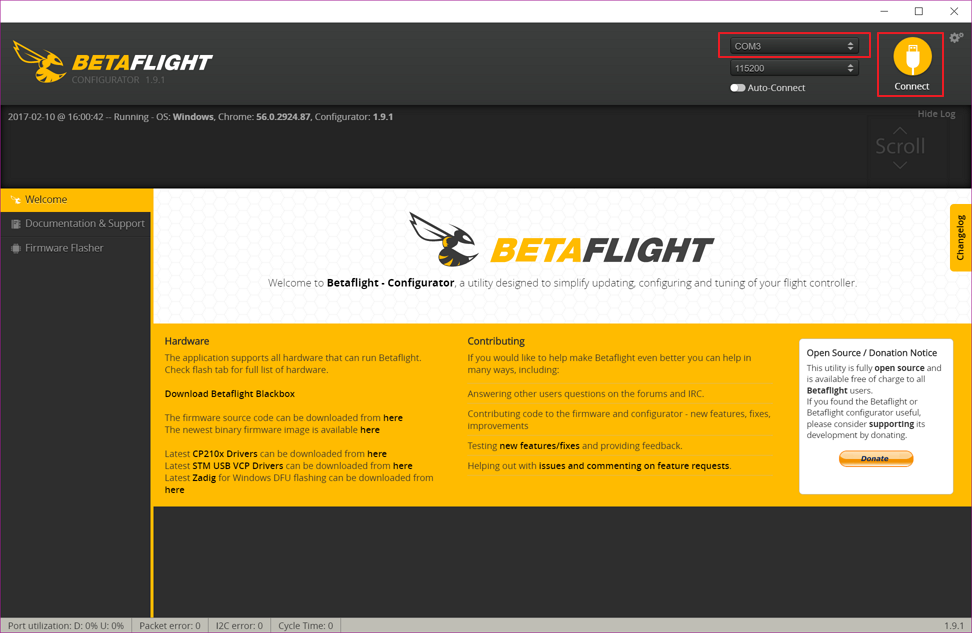 betaflight menu
