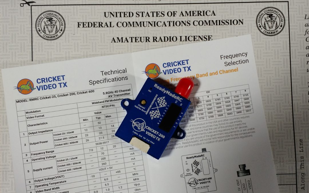 Do you need an amateur radio (HAM) license to fly FPV?