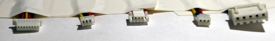identifying different connector parts