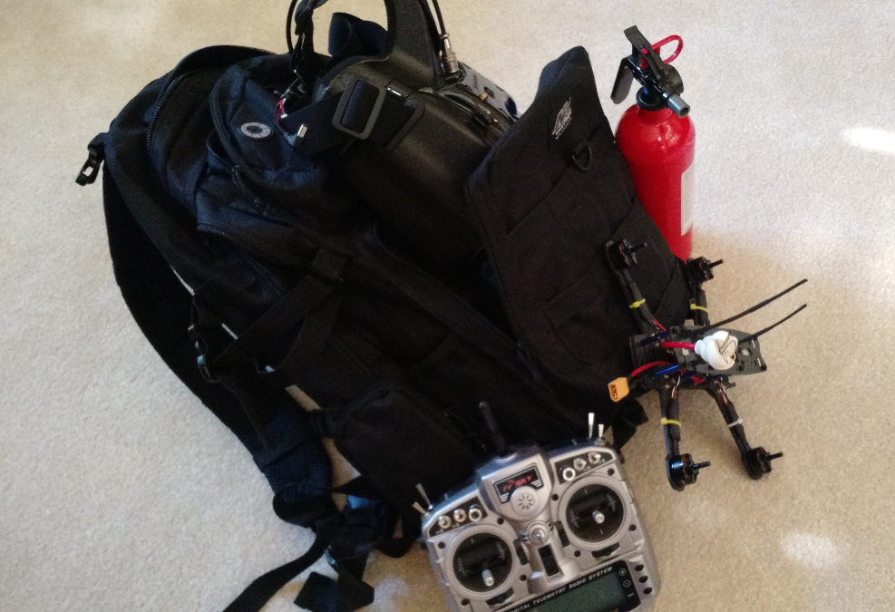 backpack with gear