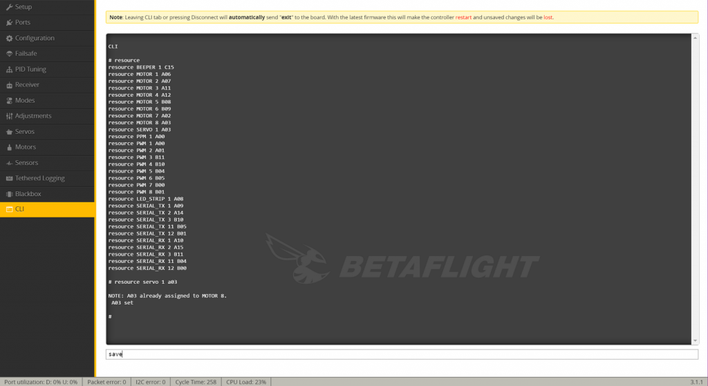 betaflight software setup 3.1