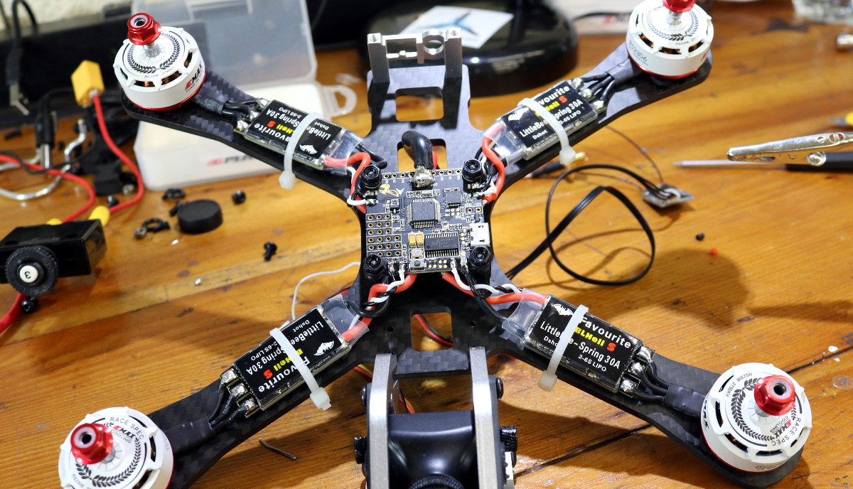 Betaflight F3 Flight Controller Review Propwashed Quadcopter Wiring Guide Esc Wires On Board
