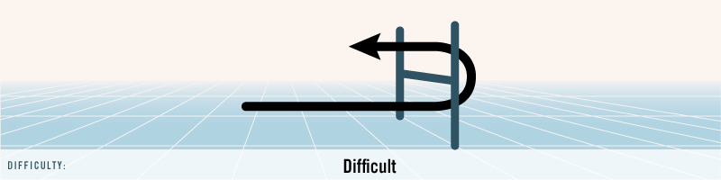 Vertical Hairpin: Difficult