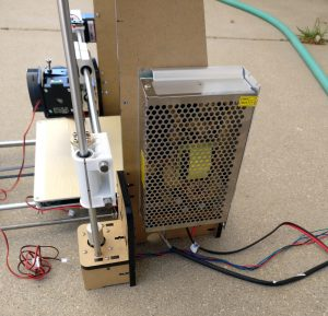 power supply mounted