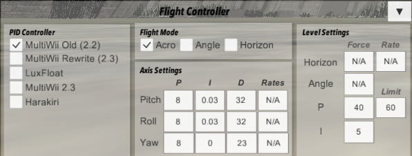 flight controller options