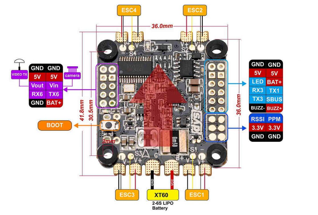 DYS F4 Pro wiring diagram