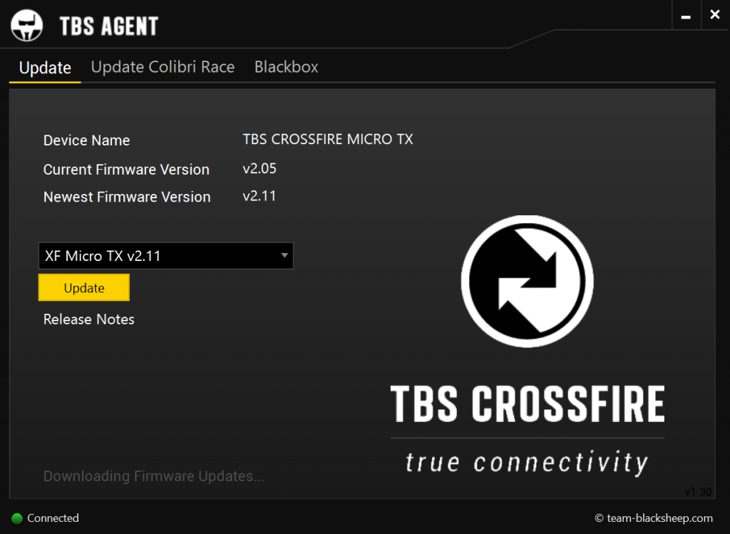 tbs crossfire agent