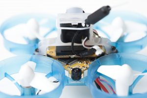 AcroBee back view: camera, frame, VTx antenna