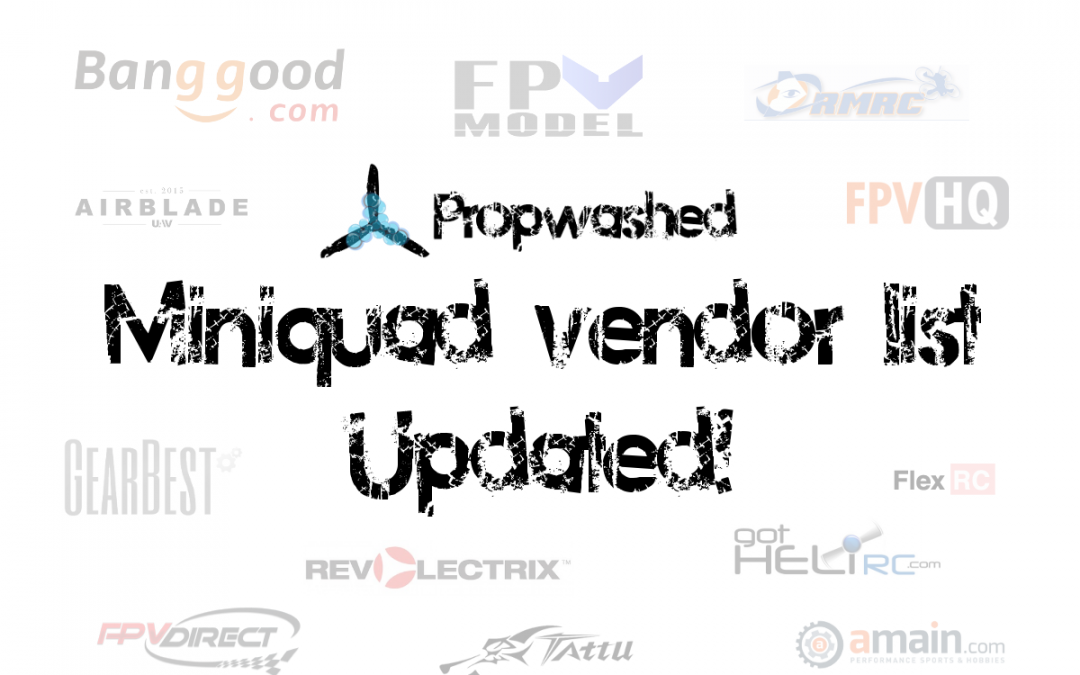 Drone vendors page updated