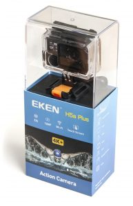 The Eken H5s Plus as it appears in retail packaging