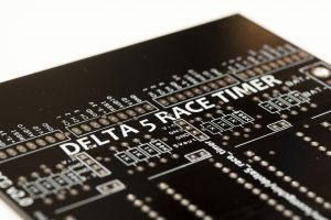 Detail of the Delta5 Race Timer PCB V2