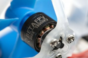close-up shot of BetaFPV 0603 brushless motor