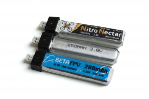 An array of micro-class 1S batteries
