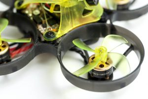 NewBeeDrone Acrobee BeeBrain Brushless V2 detail of motors and camera canopy